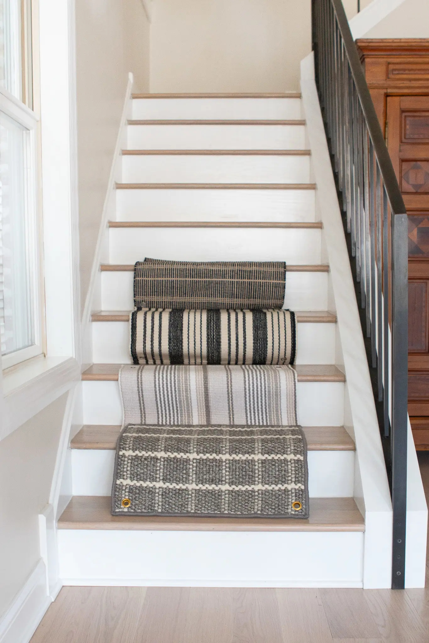 How To Install A Stair Runner On Hardwoods The Diy Playbook | Roll Runners For Stairs | Flooring | Carpet Stair Treads | Canyon Kazmir | Persian Garden | Area Rugs