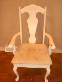 Quick-change before and after: Reused *shabby chic* chair