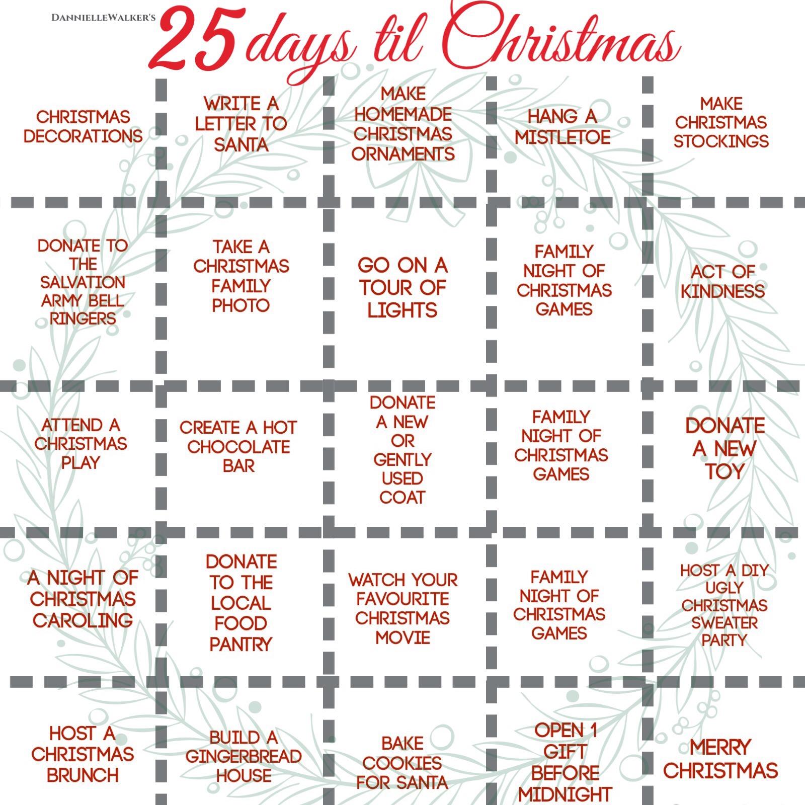 25 Days Til Christmas Thediyshow