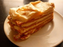 Grahan crackers-mango cake made my friend happy when I prepared some on her birthday