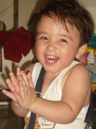 My nephew...the source of happiness in the family.