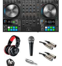 native instruments traktor kontrol s4 mk3 gig ready bundle the dj hookup [ 1000 x 1194 Pixel ]