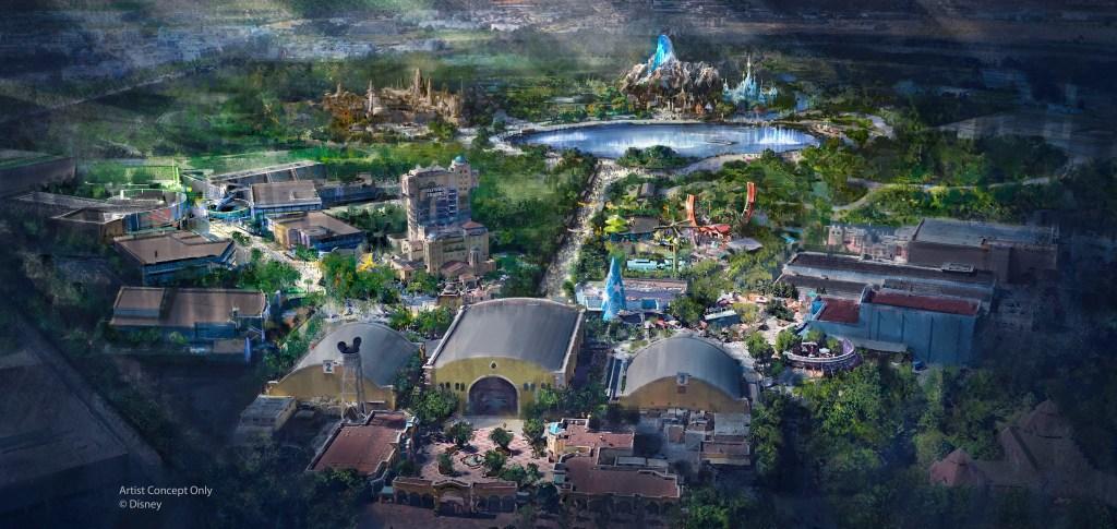 Walt Disney Studios Park expansion concept art