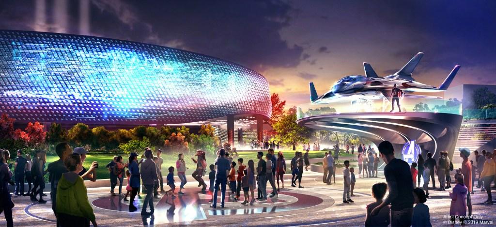 Avengers Campus Iron Man Roller Coaster