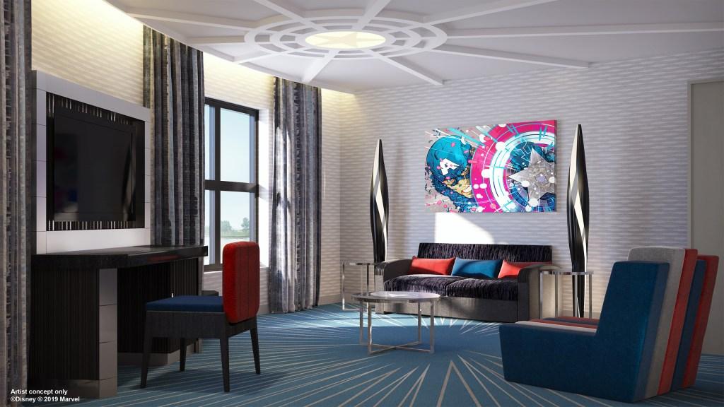 Avengers Suite Living Room