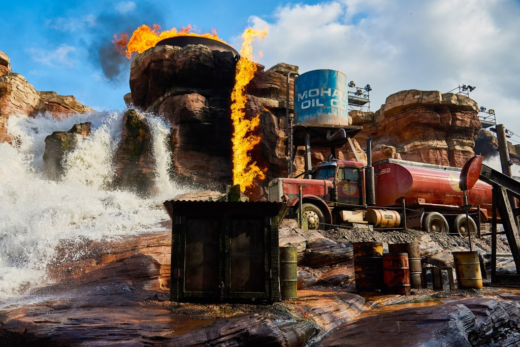 Catastrophe Canyon was the highlight of Studio Tram Tour at Walt Disney Studios Park