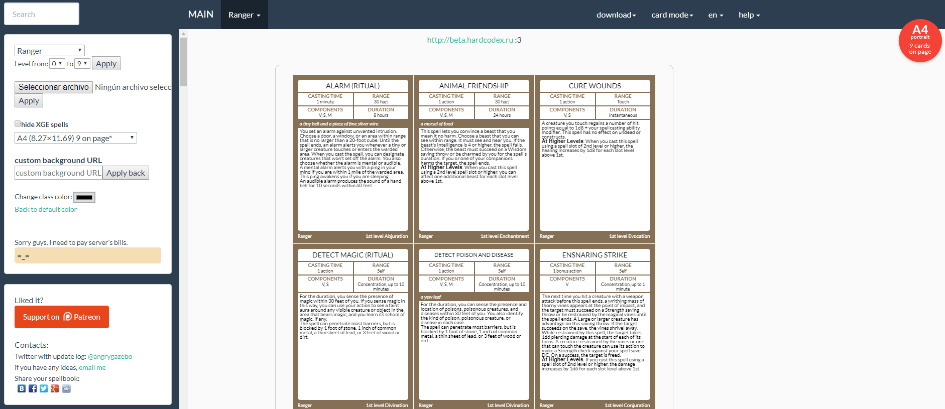 image about 5e Spell Cards Printable named Dnd 5e Spell Card Template - Investigating Mars