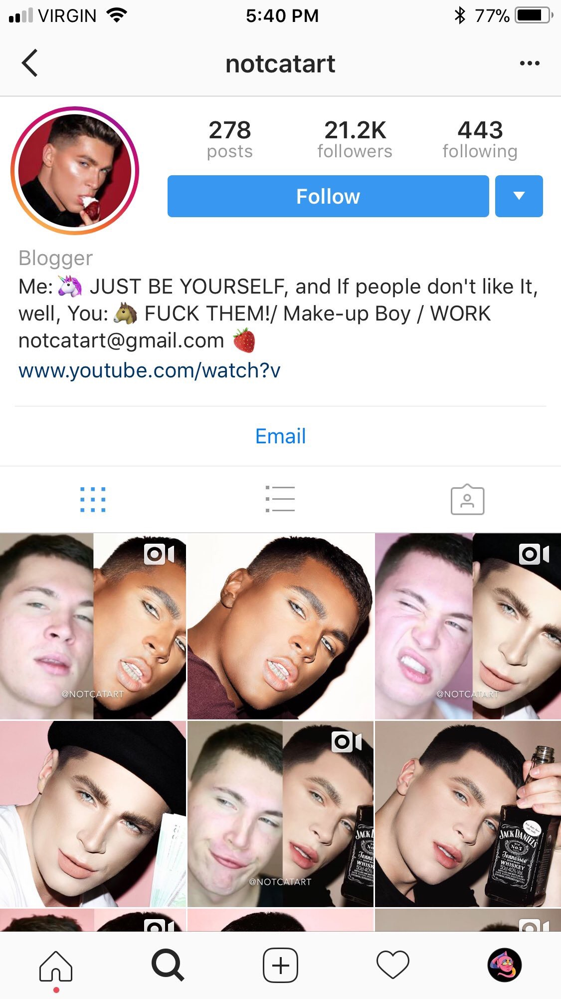 How to create a makeup artist page on instagram