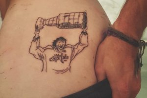 Caps Fan Gets Promised Tattoo Of Ovi Holding Up The Stanley Cup