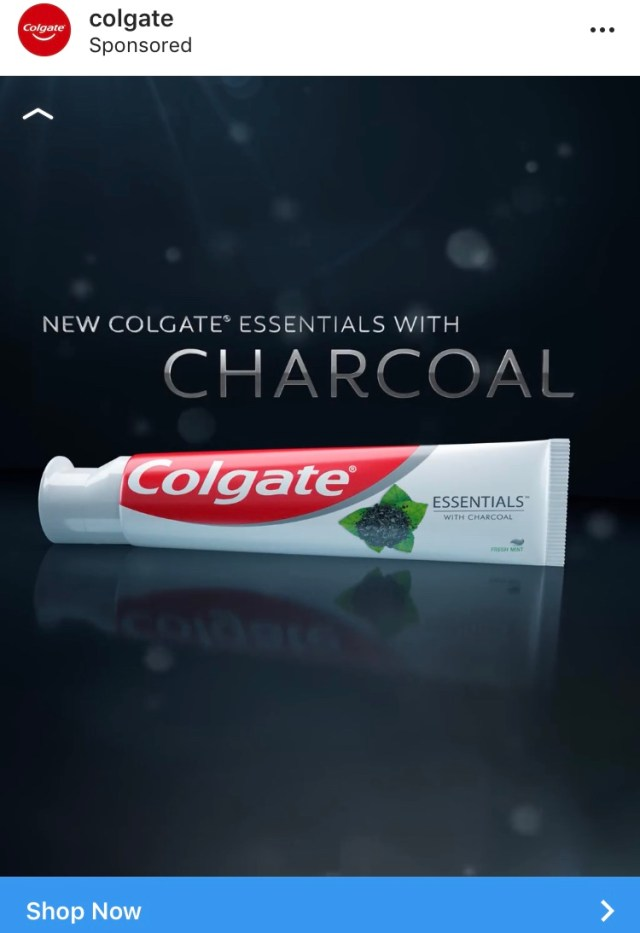 Colgate Charcoal Toothpaste Ad