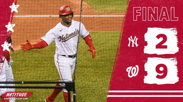 Washington Nationals win their First Game of the 2020 MLB Season