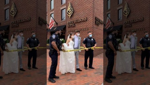 DC firefighters crash wedding after blaze breaks out at Four Seasons hotel