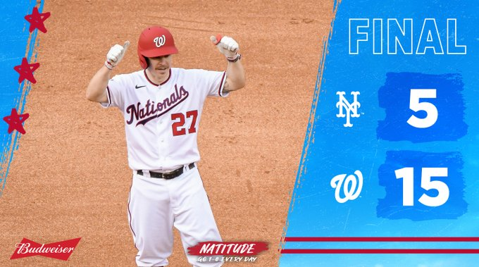 The Washington Nationals win their season finale against the New York Mets
