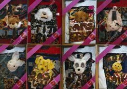 STICKY PUPPY [9-16]. 200 x 500 cm. 2003. 30 Pieces [Shown 9-16]
