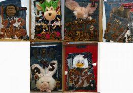 STICKY PUPPY. 200 x 500 cm. 2003. 30 Pieces [Shown 25-30]