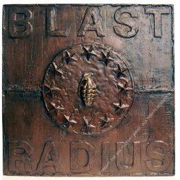 BLAST RADIUS. 60 x 60 x 8 cm. 2020. 1/1