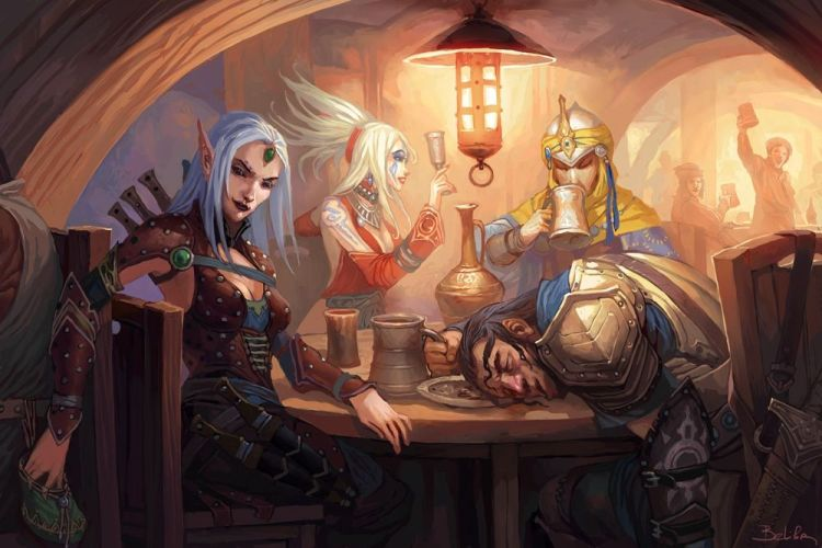 Adventurers at the tavern