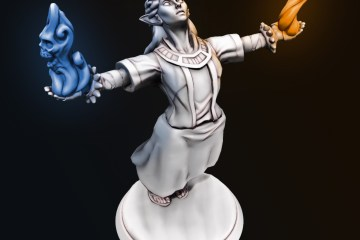 Female wizard created using Hero Forge