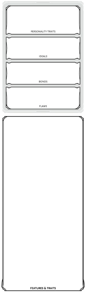 The right section of the 5e character sheet
