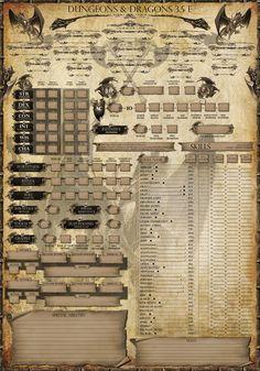 Fancy character sheet