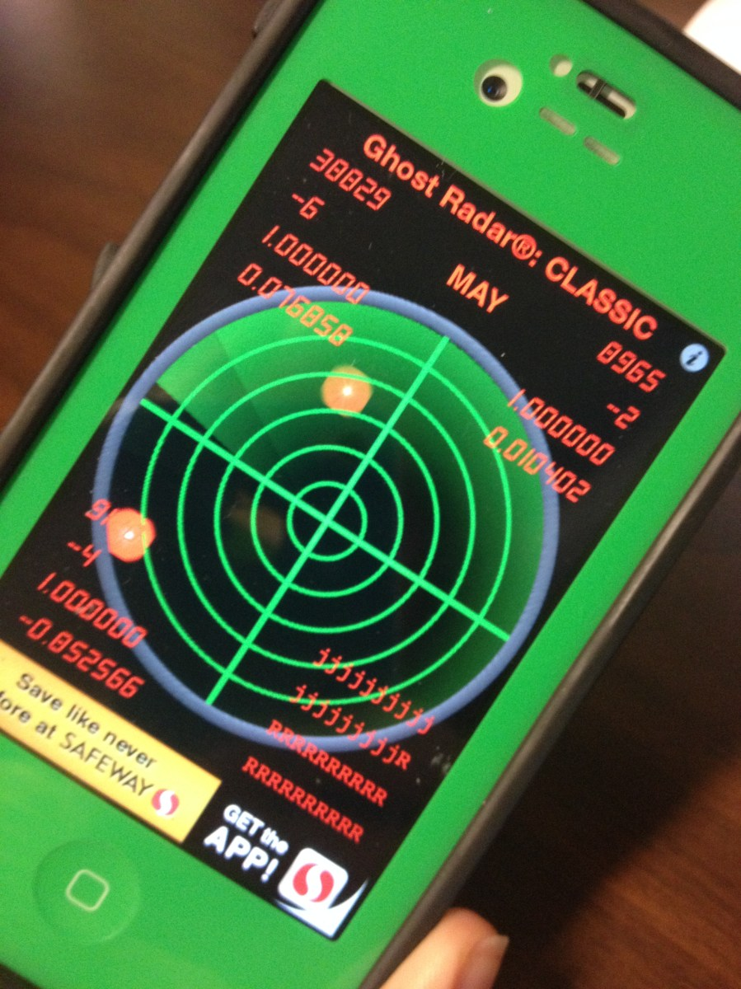 Testing the app: Ghost radar classic edition