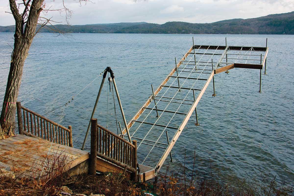 Articulating Docks | Cantilever Docks | Hinged Dock Systems — The Dock Doctors