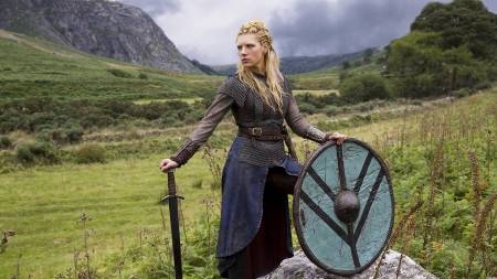 Lagertha played by Canadian actress Katheryn Winnick in History Channel's Vikings. Image source:
