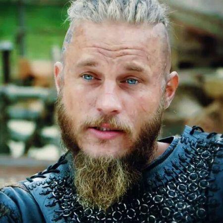 Ragnar Lodbrok played by Australian actor Travis Fimmel.