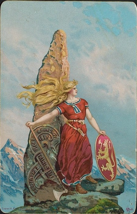 'Liberty, Equality, Fraternity' by Norwegian painter Andreas Bloch. Image source: www.commons.wikimedia.org