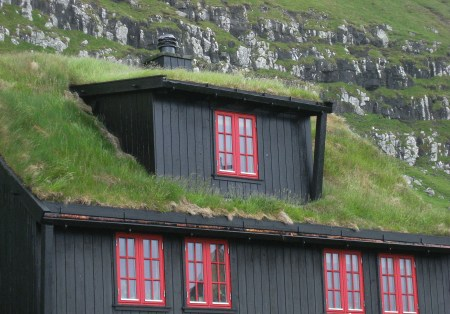 A picturesque turf house from the Faroe Islands