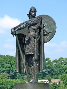 Statue of Thorfinn Karlsefni by Icelandic sculptor Einar Jónsson in Fairmount Park, Philadelphia, Pennsylvania. Image source: www.commons.wikimedia.org