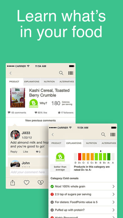 Image of the fooducate iphone app