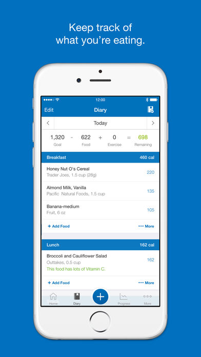screenshot of myfitnesspal from an iphone