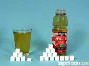 image depicting how many sugar cubes are in apple juice
