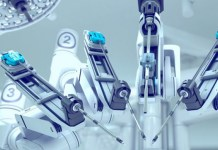 closeup of robotic surgery machine 760 x 395