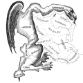 Gerrymandered map of Mass from 1812