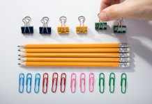 OCD lining up pencils and clips 1500 1000