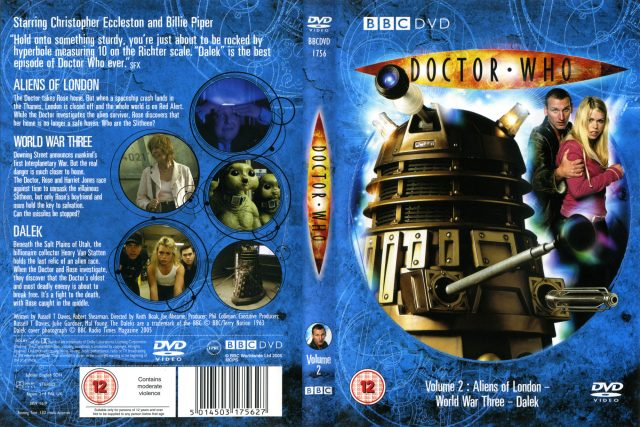 Vanilla Ninth 9th Doctor DVD Dalek Christopher Eccleston