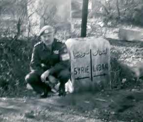 Lebanese/Syrian border, 1958. Border patrol