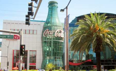 giant coke bottle storefront