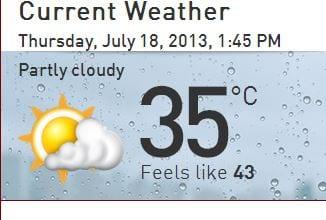 weather now C