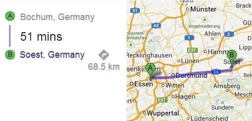 Bochum to Soest