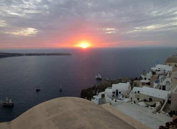 Nightfall in Santorini