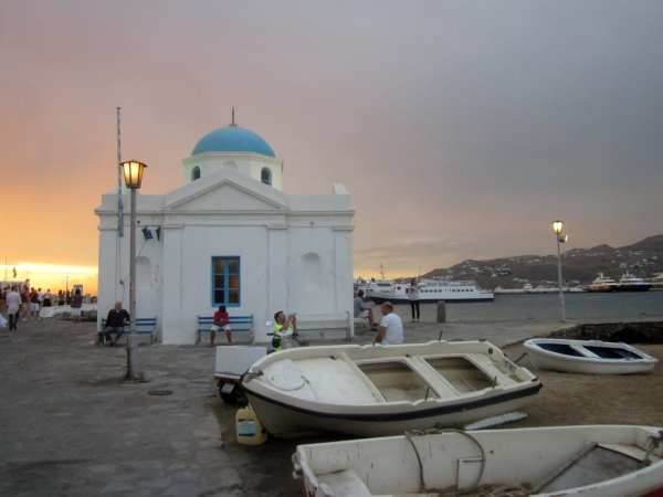 Nightfall at Mykonos