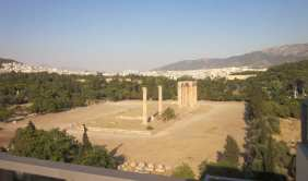 Temple of Zeus with the city of Athens in background