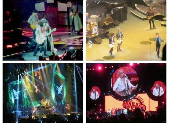 concert photo collage