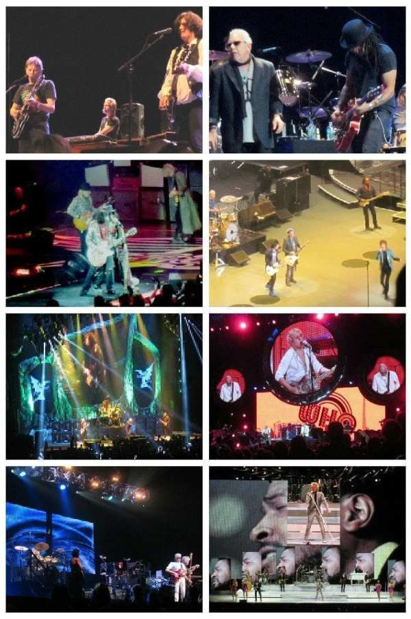 concert photo collage