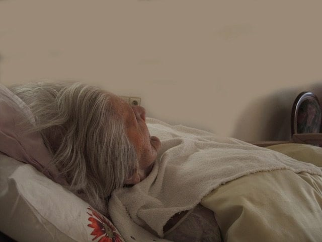 dying old woman