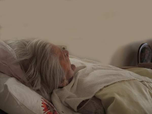 """dying old woman """"As She Lay Dying"""", The Doglady's Den"""