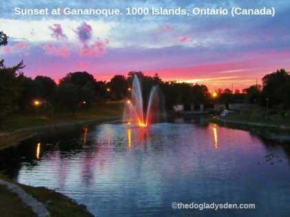 Gananoque sunset | #TopTenThursday #Blogfest